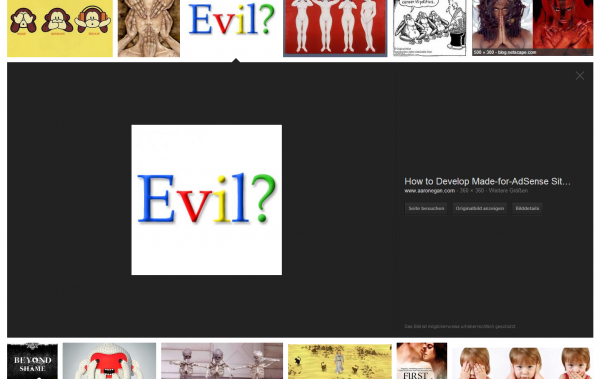 Google Bildersuche evil